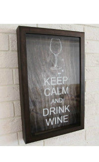 Подарочная упаковка Box for wine corks Keep Calm And Drink Wine Wenge