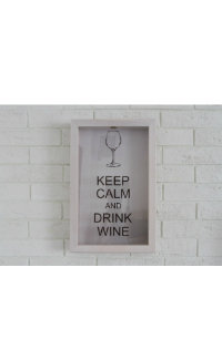 Подарочная упаковка Box for wine corks Keep Calm And Drink Wine Beech