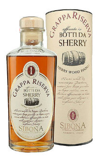Граппа Sibona Riserva Sherry Wood Finish 0.5 л