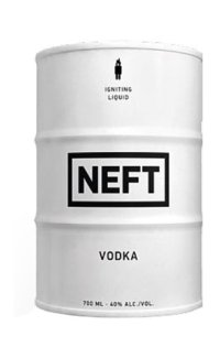 Водка Vodka Neft (White barrel) 0.7 л